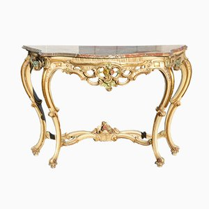 Vintage Italian Lacquered Console Table
