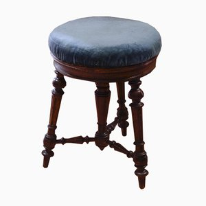 Antique Italian Walnut Piano Stool