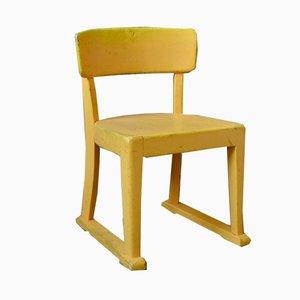 Chaise d'Enfant Mid-Century Jaune