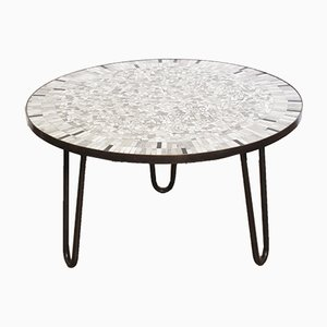 Brass Mosaic Coffee Table by Berthold Müller, 1950s