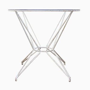 Mid-Century Wrought-Iron & Glass Outdoors Table, 1960s