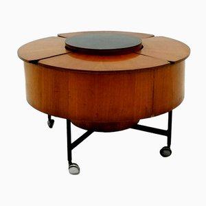 Mueble bar vintage con ruedas, años 60