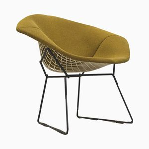 Olive Green Diamond Chair by Harry Bertoia for Knoll, 1970s