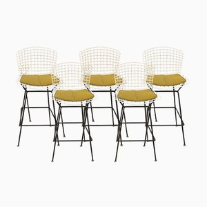 Vintage Wire Bar Stool by Harry Bertoia for Knoll Inc