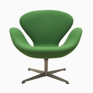 Green Swan Chair by Arne Jacobsen for Fritz Hansen, 1969