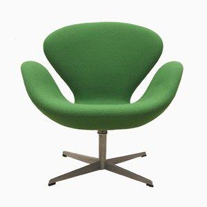 Sedia Swan verde di Arne Jacobsen per Fritz Hansen, 1969