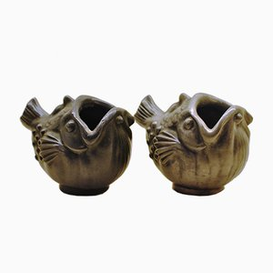 Fish Vases by Just Andersen, 1930s, Set of 2