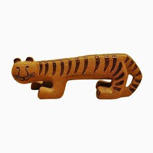 Tigre in ceramica di Lisa Larson per Gustavsberg, anni '60