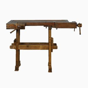 Vintage Oak Carpenter's Workbench, 1930s