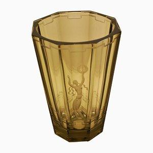 Art Deco Vase von Vicke Lindstrand für Orrefors, 1920er