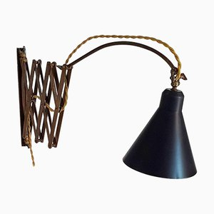 Mid-Century Extendable Scissor Lamp