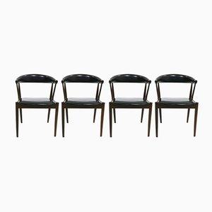 Esszimmerstühle von Johannes Andersen für Uldum Mobelfabrik, 1960er, 4er Set