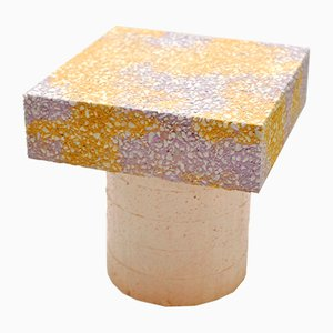 Concretely Happy Stool in Peach, Purple & Yellow by Jonatan Nilsson, 2017