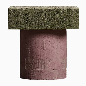 Concretely Happy Stool in Pink & Grün von Jonatan Nilsson, 2017