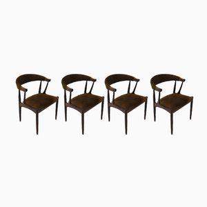 Chaises de Salle à Manger BA 113 Vintage en Palissandre par Johannes Andersen pour Brødere Andersen Møbelfabrik A/S, Set de 4