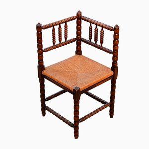Mid-Century Bobbin Turned Corner Chair, 1950s