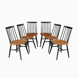 Swedish Fanett Chairs by Ilmari Tapiovaara, 1950s, Set of 6