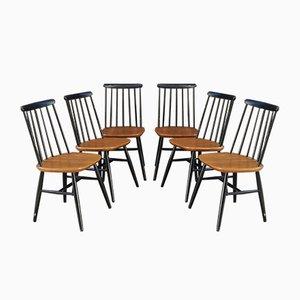 Swedish Fanett Chairs by Ilmari Tapiovaara, 1950s, Set of 6