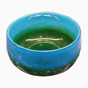 Swedish Blown Glass Bowl by John Orwar Lake for Ekenas, 1960s