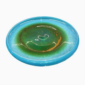 Schwedischer Teller aus geblasenem Glas von John Orwar Lake für Ekenas, 1960er