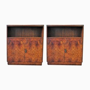 English Art Deco Cabinets, 1930s, Set of 2