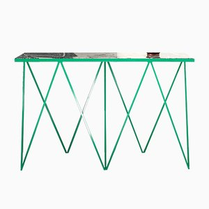 Consola Giraffe Console Table con superficie de piedra de granito de &New