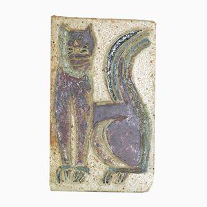 Vintage Vallauris Ceramic Plaque by Isabelle Ferlay & Frédérique Bourget for Les Argonautes