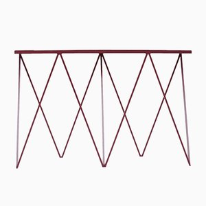 Giraffe Console Table with Leather Top by &New