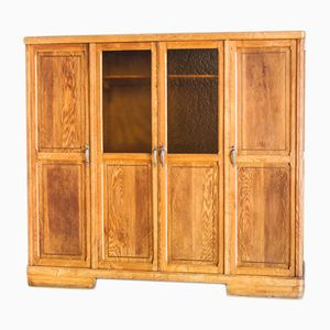 Vintage French Oak Wardrobe, 1960s