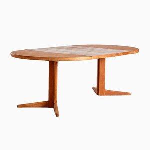 Mesa de comedor extensible danesa vintage de teca, años 60
