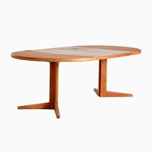 Vintage Danish Extendable Teak Dining Table, 1960s