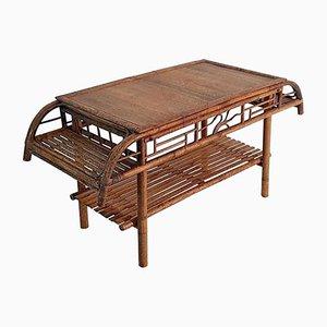 Vintage Art Deco Couchtisch aus Bambus