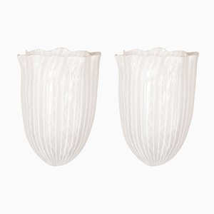 Vintage Sconces by Fulvio Bianconi for Venini, Set of 2
