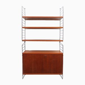Vintage Teak Wall Unit with Cabinet by Nisse Strinning for String