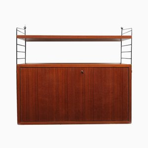 "Mid-Century Teak Regal Shelving Unit by Kajsa & Nils ""Nisse"" Strinning for String, 1960s"