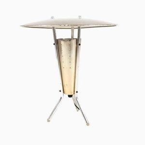 Lampada da scrivania Space Age in alluminio, anni '50
