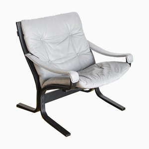 Paar Vintage Sessel mit Fußhocker von Ingmar Relling für Westnofa