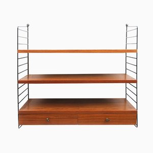 "Mid-Century Regal Shelving Wall Unit by Kajsa & Nils ""Nisse"" Strinning for String, 1960s"