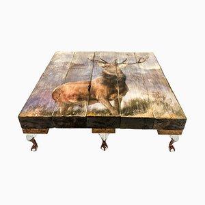 Tavolino da caffè con cervo di Cappa E Spada