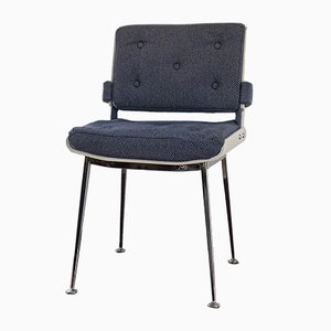 Blau-weiß lackierter Stuhl aus Bugholz von Alain Richard, 1965