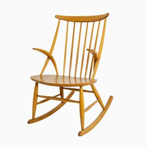 Vintage Gyngestol No. 3 Rocking Chair by Illum Wikkelso for Niels Eilersen