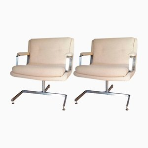 Vintage French Lounge Chairs by Raphael Raffel, 1970s, Set of 2
