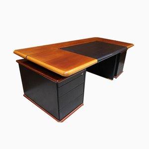 Schreibtisch mit 2 Staufächern von Knoll, 1980er