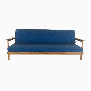 Sofá cama Manhattan vintage de teca de Guy Rogers