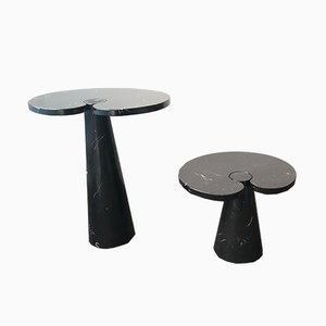 Marquina Marble Eros Coffee Tables by Angelo Mangiarotti for Skipper, 1970s, Set of 2