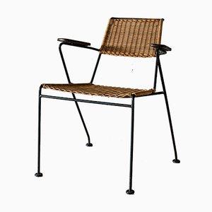 Chaise en Rotin Vintage par Dirk van Sliegdregt pour Rohé Noordwolde
