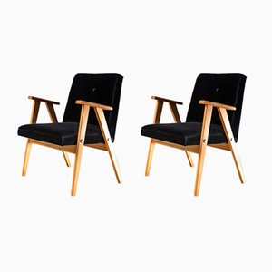 Mid-Century Easy Chairs by Józef Chierowski, 1960s, Set of 2
