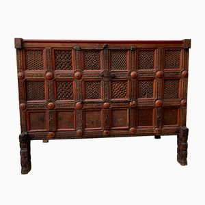 Antique Teak Indian Dowry Chest