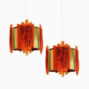 Mid-Century Deckenlampen von Claus Bolby für Cebo Industri, 1960er, 2er Set