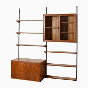 Teak Modular Wall Unit by Kai Kristiansen, 1960s
